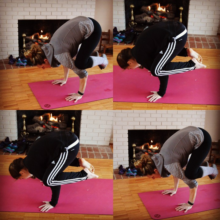 Yoga Crow pose Bakasana