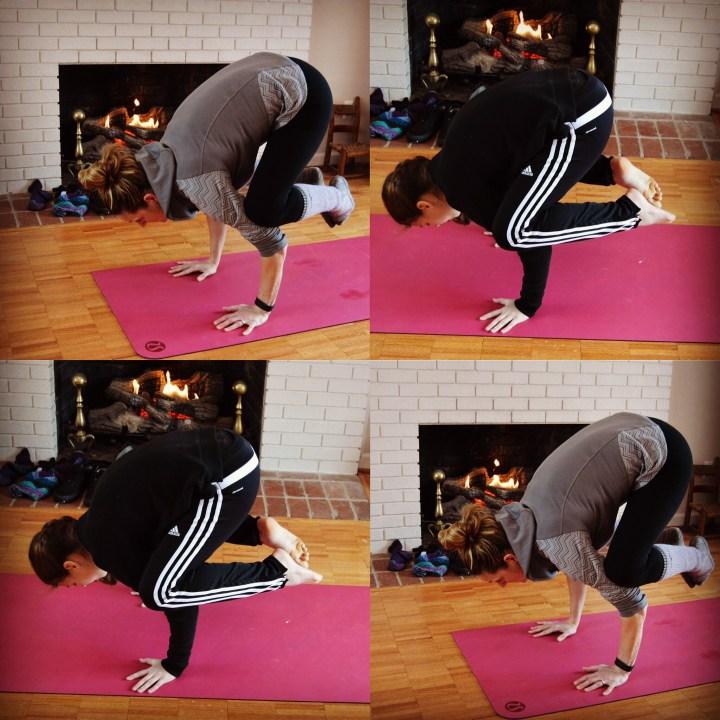 Yoga Crow Crane pose Bakasana