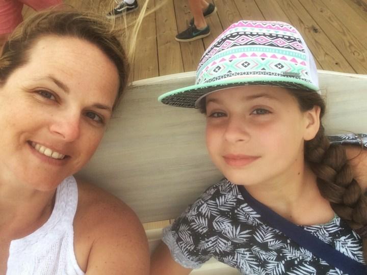 Amy Lyon Smith and her daughter in Carolina Beach, North Carolina