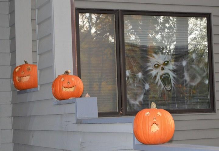 Pumpkins and Halloween monsters