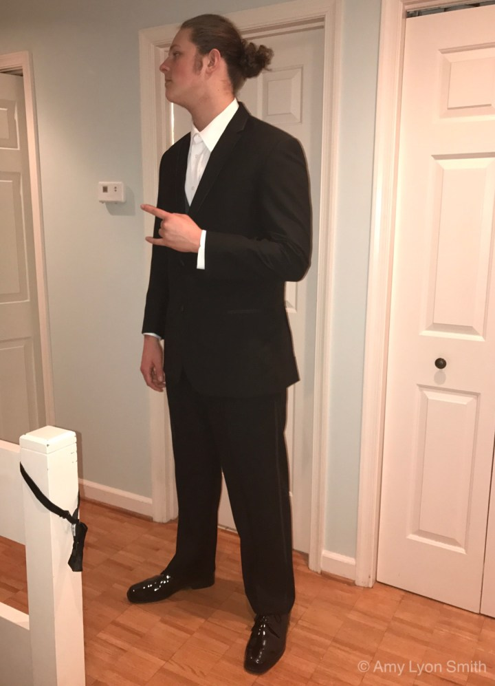 Trial Run of Tux before Prom