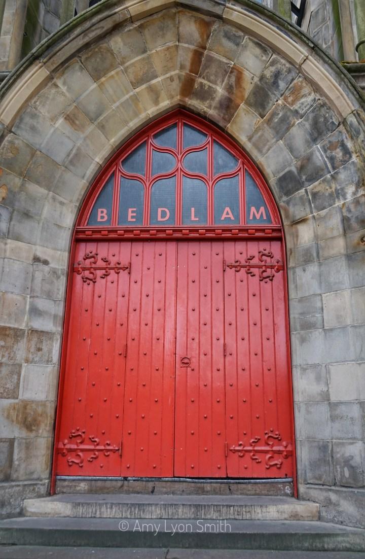 Door of Bedlam Theatre Edinburgh Scotland