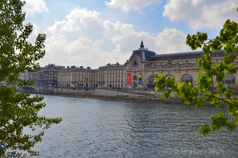 Looking across the Seine at Musee d'Orsay in Paris, France