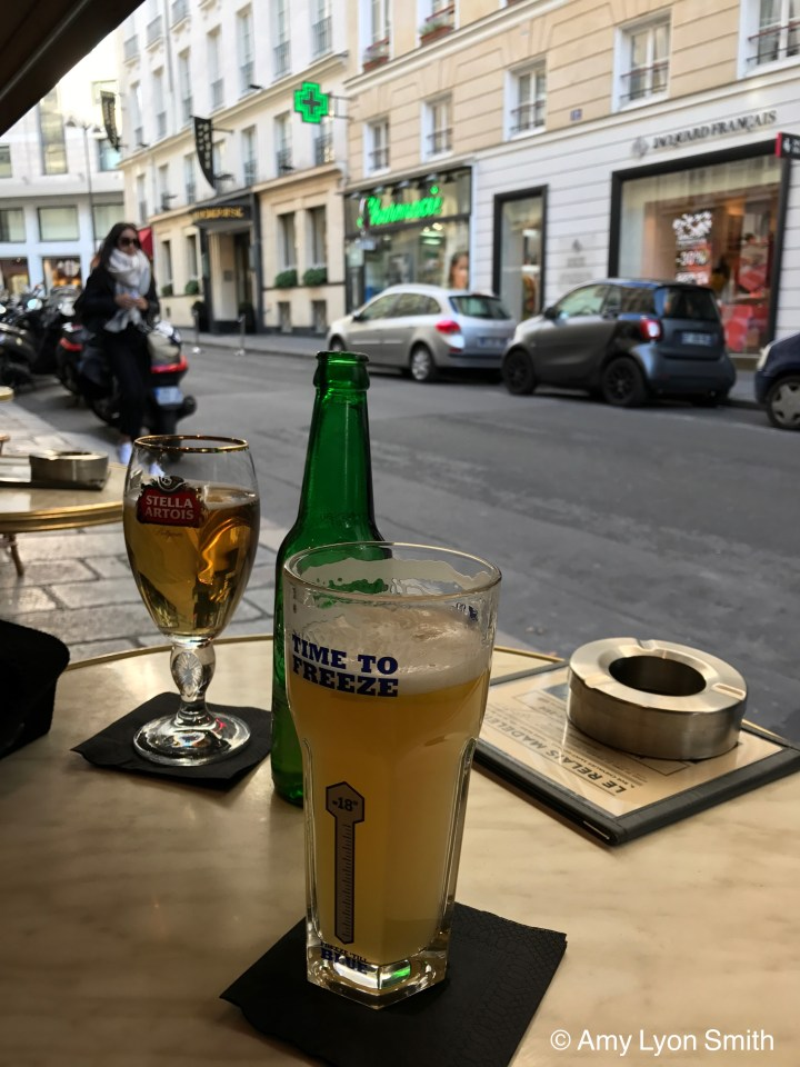 Beer at Paris Cafe