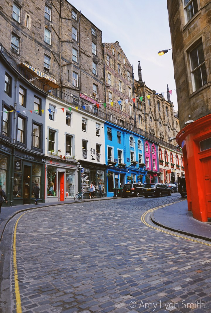Victoria Street in Edinburgh, Scotland