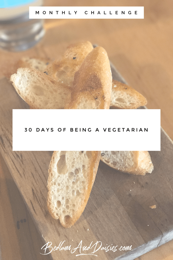 30 days of being a vegetarian monthly challenge