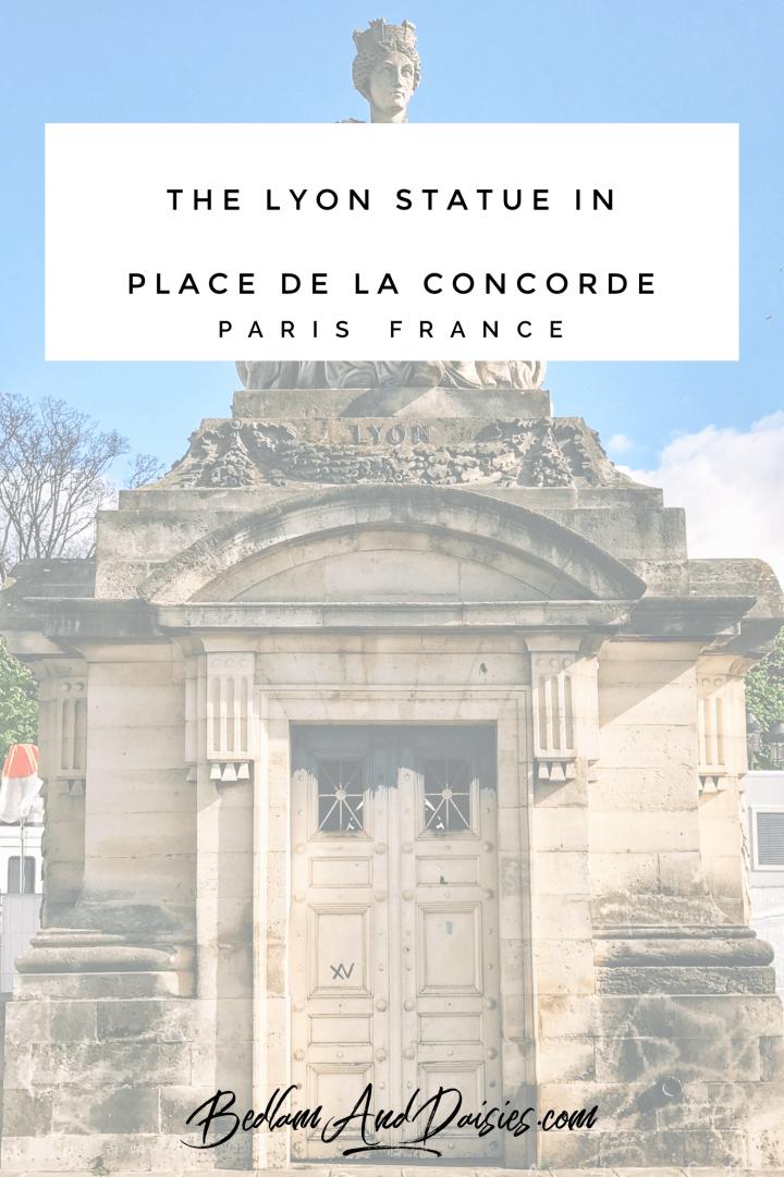 The Lyon Statue in Place De La Concorde Paris, France