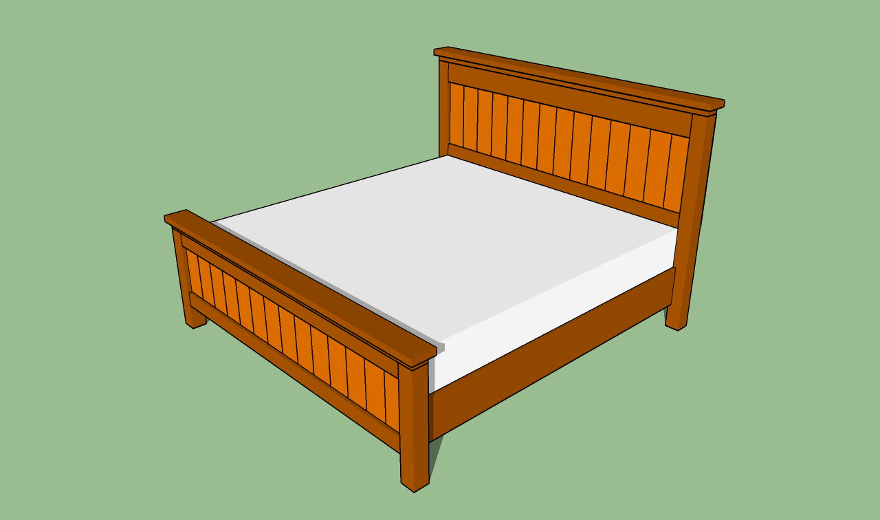 King Size Bed Frame Plans Bed Plans Diy Amp Blueprints