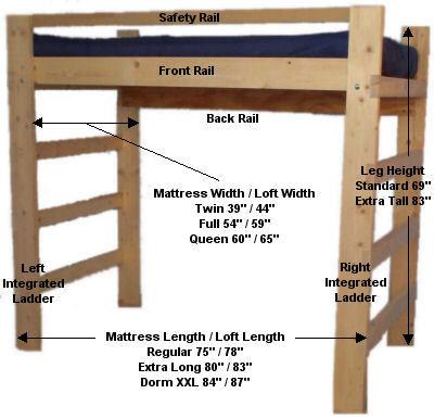 plans for wood loft bed