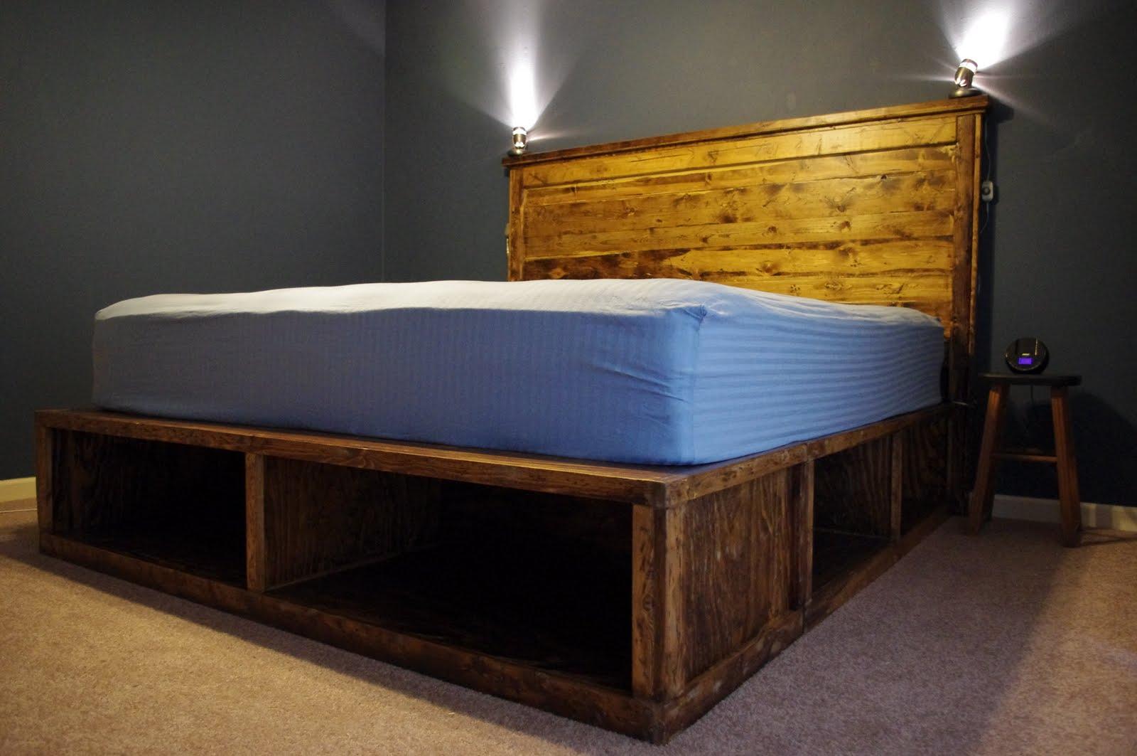 Woodwork Platform Bed Frame With Drawers Plans Plans