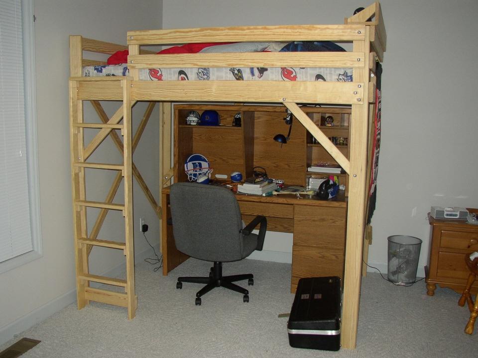 Queen Size Loft Bed Plans Bed Plans Diy Amp Blueprints