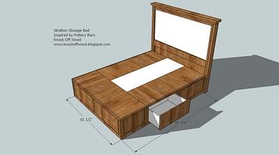 platform bed frame with drawers plans