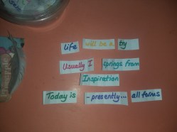 I springs from Inspiration!