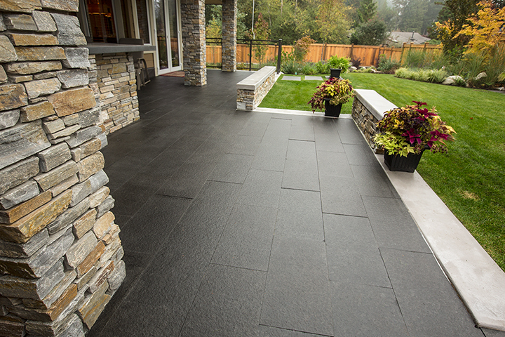 basalt stone tiles natural patio stone