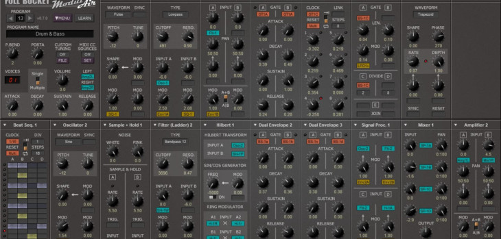 ModulAir Free Modular Synthesizer VST/AU Plugin Released (BETA)