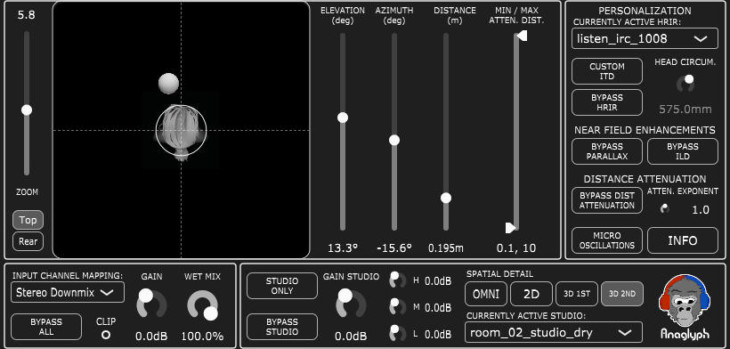 Anaglyph Is A FREE Binaural Spatialization VST Plugin