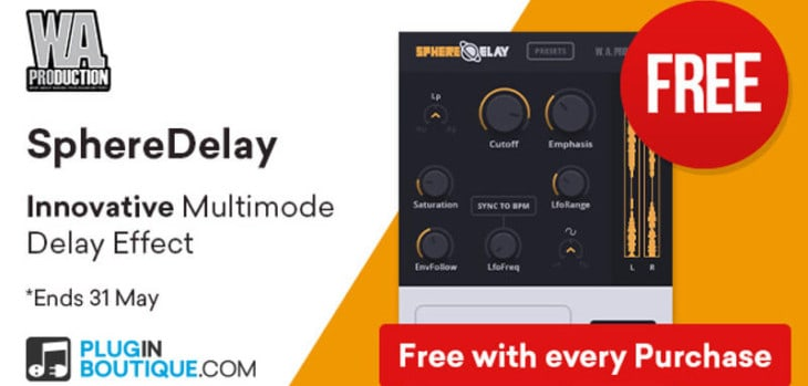 Get SphereDelay For FREE With Any Purchase @ Pluginboutique!