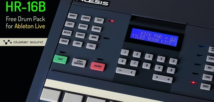 Free Alesis HR-16B Drum Pack For Ableton Live By Cluster Sound