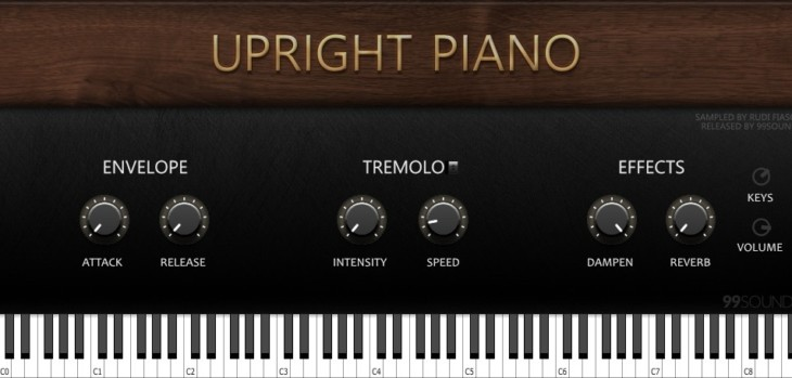 99Sounds Releases FREE Upright Piano VST/AU Plugin