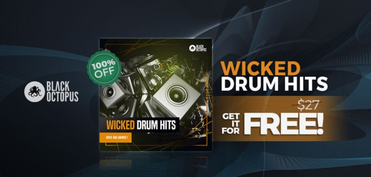 Wicked Drum Hits By Black Octopus IS FREE Until November 26th