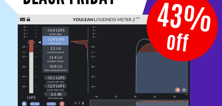 Youlean Loudness Meter 2 Pro Black Friday Sale - 43% OFF!