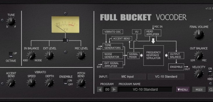 FBVC Free Vocoder VST Plugin Released By Full Bucket Music