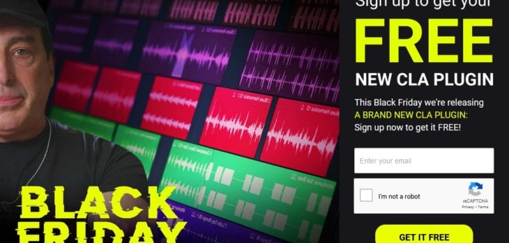 Waves Will Release A Free CLA Plugin On Black Friday
