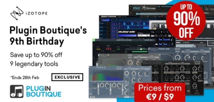 Get Up To 90% OFF iZotope Software @ Plugin Boutique