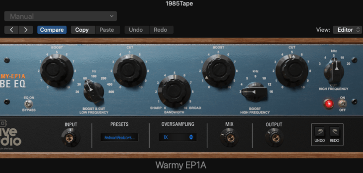 Warmy EP1A Tube EQ by Kiive Audio