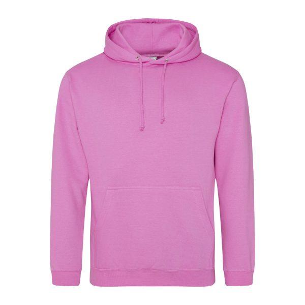 suikerspin roze kleur hoodie - bedruk mijn hoody