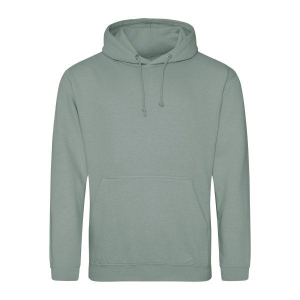 dusty green kleur hoodie - bedruk mijn hoody