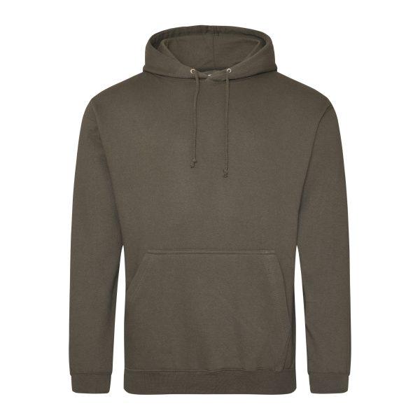 Olijfgroen kleur hoodie - bedruk mijn hoody