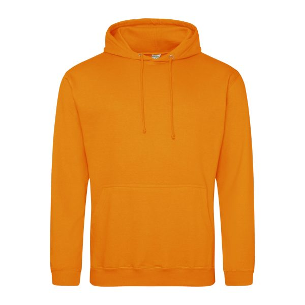 Crushed Sinaasappel kleur hoodie - bedruk mijn hoody