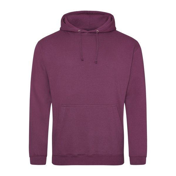 pruim rood paars kleur hoodie - bedruk mijn hoodie