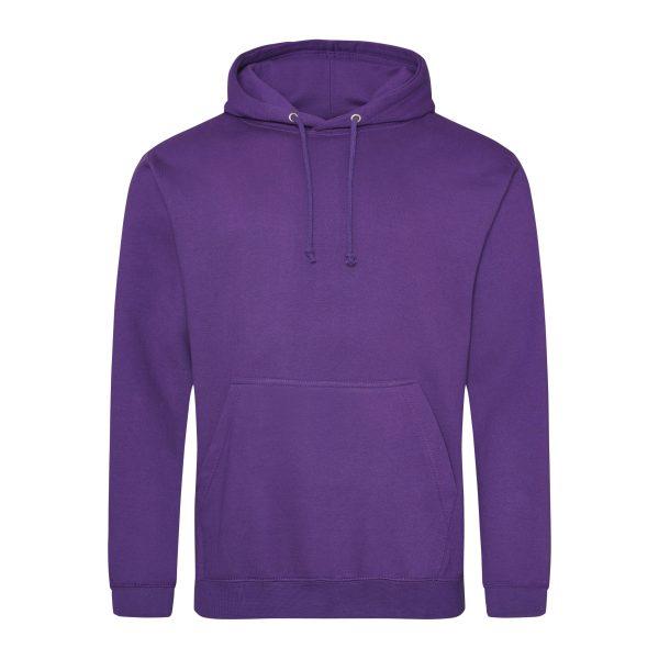 paars kleur hoodie - bedruk mijn hoodie