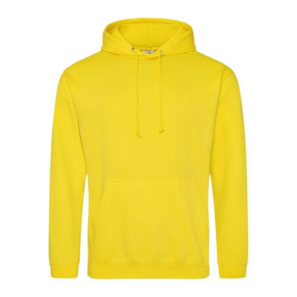 Zon geel kleur hoodie - bedruk mijn hoodie