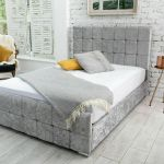 Renata Cube Fabric Upholstered Bed Frame Luxury Fabric Beds Beds Co Uk The Bed Outlet