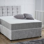 Crushed Velvet Orthopaedic Double Or Small Double Divan Bed Headboard Free Delivery
