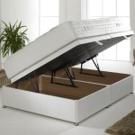 Ottoman Storage Double Or Small Double Divan Base In Cotton Cover Free Delivery