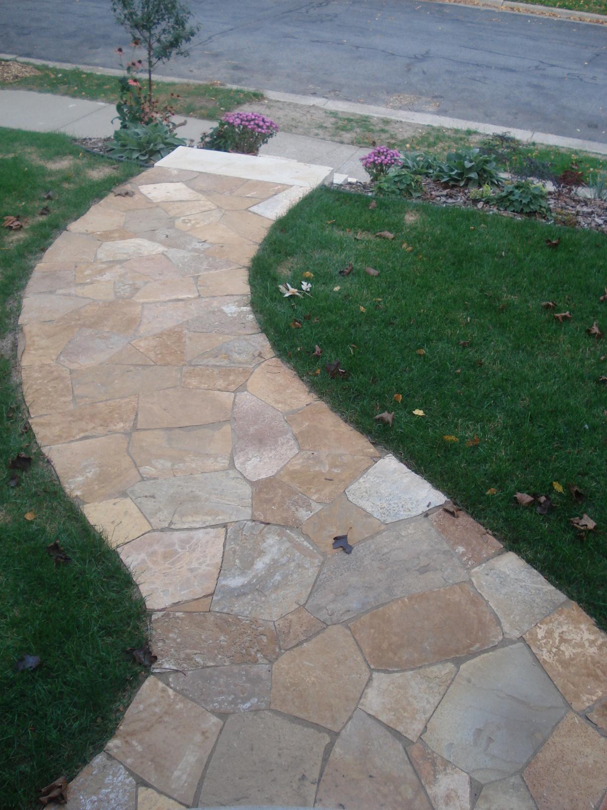 stone paths landing & steps