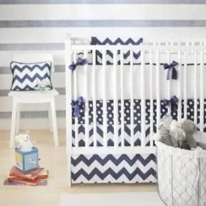 Chevron Crib Bedding - New Arrivals - Navy
