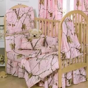 Pink Realtree Camo Crib Bedding Set