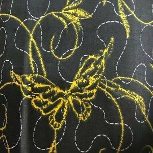 Black & Grey Butterfly Design Duvet Cover & Pillowcases