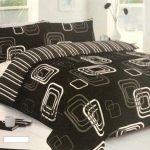 3' Single 5 Pce Black Bed In A Bag (duvet, pillow, duvet cover, pillowcase & fitted Sheet)
