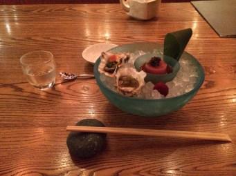 Oysters at Nobu