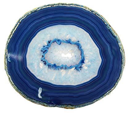 agate blue natural slice