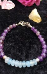 diana bracelet amethyst and aquamarine 1