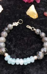 diana bracelet larvikite and aquamarine 1