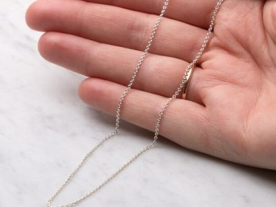 sterling silver medium flat trace chain