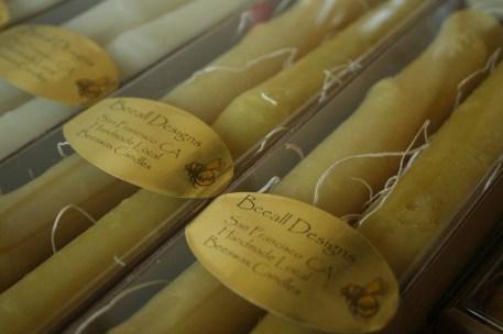 Oak Stick Beeswax Candles